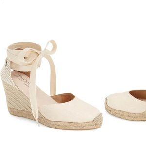 Soludos Lace Up Espadrille Wedges